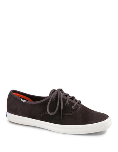Keds Champion Suede Lace-up Sneakers-GREY-7