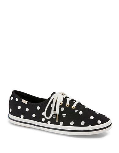 Keds Womens Dancing Dot Sneakers-BLACK/WHITE-5 89223393_BLACK/WHITE_5