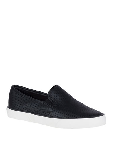 Sperry Pier Side Seasonal Canvas Slip-On Sneakers-BLACK-5