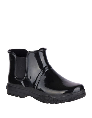 Sperry Rubber Rain Booties-BLACK-10