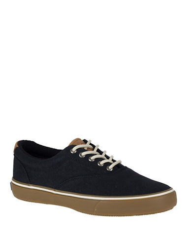 Sperry Textured Top-Sider Sneakers-BLACK-12