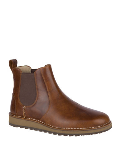 Sperry Dockyard Leather Chelsea Boots-TAN-13