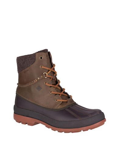 Sperry Cold Bay Waterproof Ice+ Winter Boots-DARK BROWN-10.5