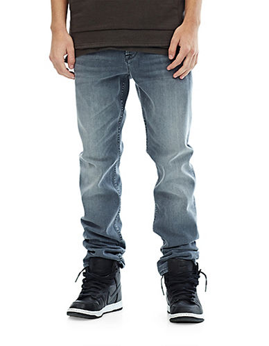 Hudson Jeans Sartor Slouchy Skinny Jeans-GREY-34