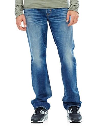 Hudson Jeans Byron Five-Pocket Straight Jeans-BLUE-33