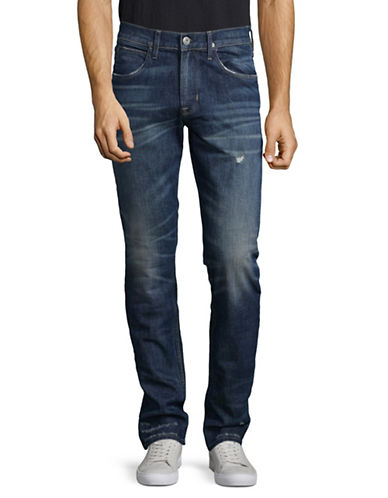 Hudson Jeans Slim-Fit Straight Pants-LIGHT BLUE-34