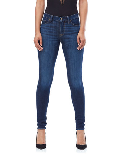 Hudson Jeans Nico Mid-Rise Super Skinny Jeans-TRANCE-32
