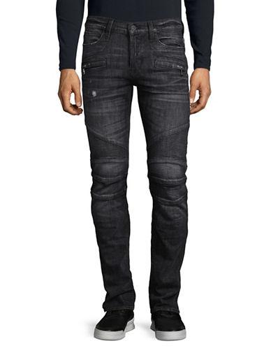 Hudson Jeans Blinder Biker Skinny Jeans-GREY-34