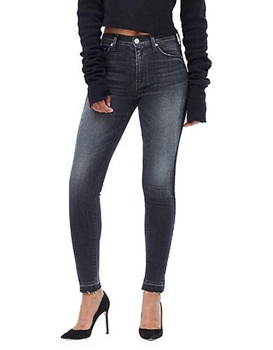 Hudson Jeans Barbara High Waist Super Skinny Ankle Jeans-BLACK-26
