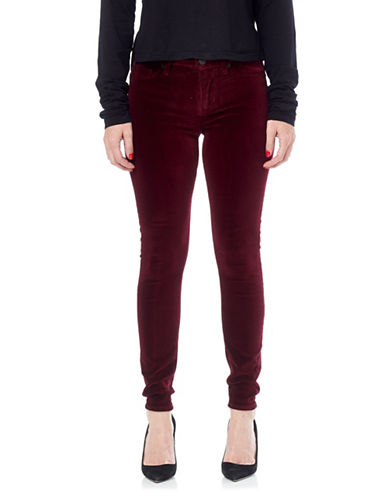 Hudson Jeans Nico Midrise Super Skinny Pant-BURGUNDY-32