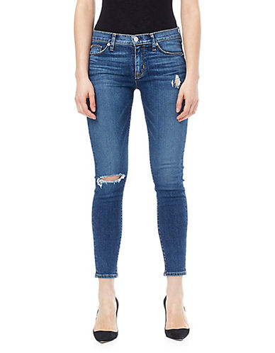 Hudson Jeans Nico Mid-Rise Ankle Super Skinny Jeans-BLUE-28