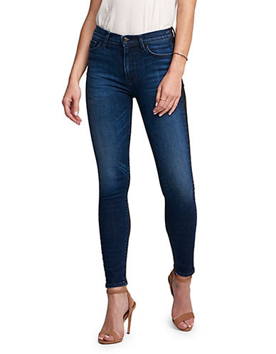 Hudson Jeans Barbara High Waist Super Skinny Ankle Jeans-DARK BLUE-27