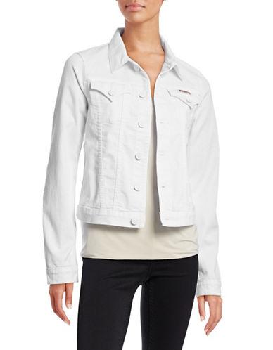 Hudson Jeans Signature Jean Jacket-WHITE-Small 88201095_WHITE_Small