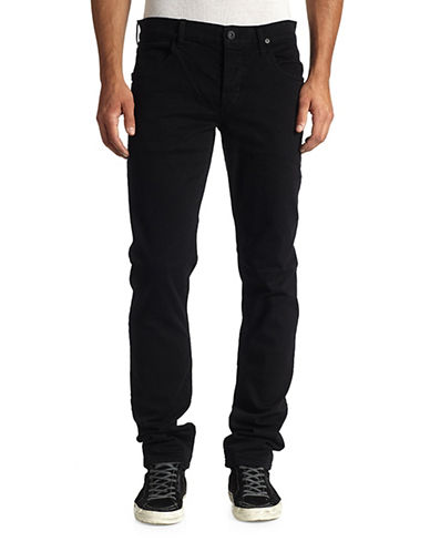 Hudson Jeans Straight Slim Jeans-BLACK-38