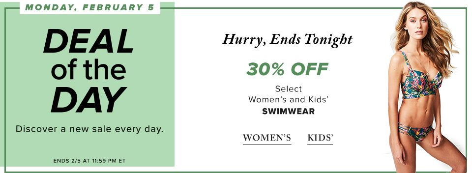 Swimwear for Women & Kids from $5.60 @ The Bay