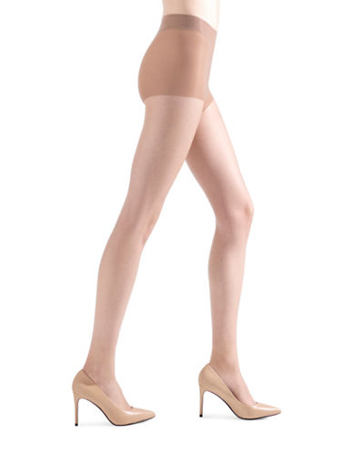 Natori Soft Suede Sheer Control Top Pantyhose-BEIGE-Medium