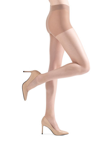 Natori Micro Sheer Control Top Pantyhose-BEIGE-Medium