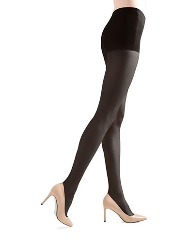 Natori Stiletto Sheer Control Top Pantyhose-BLACK-Medium