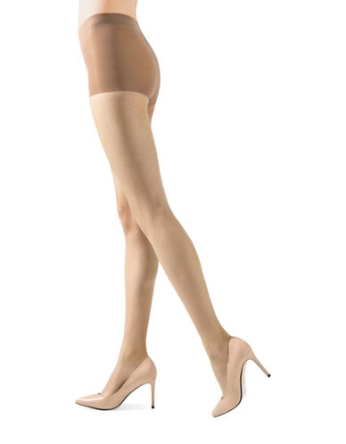 Natori Stiletto Sheer Control Top Pantyhose-BEIGE-Small