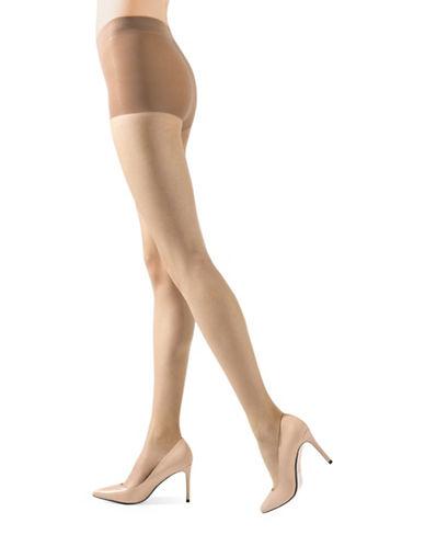 Natori Stiletto Sheer Control Top Pantyhose-BEIGE-Large