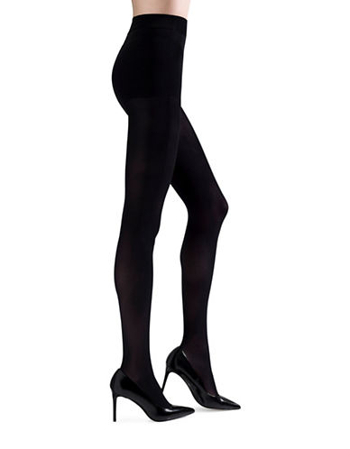 Natori Stiletto Opaque Pantyhose-BLACK-Large/X-Large