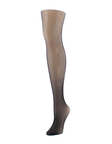 Natori Bristle Print Tights-BLACK-Large