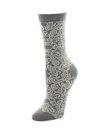 Natori Womens Gobi Crew Socks-GREY-9-11