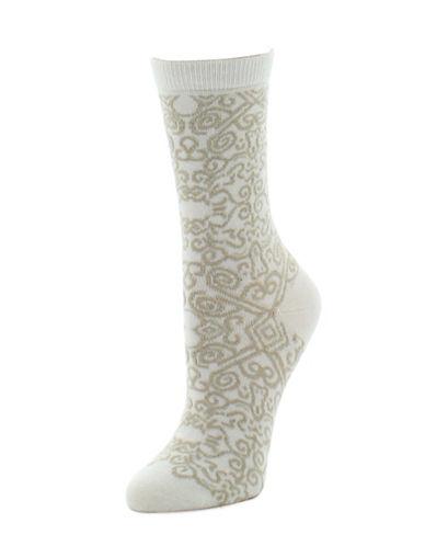 Natori Womens Gobi Crew Socks-BEIGE-9-11