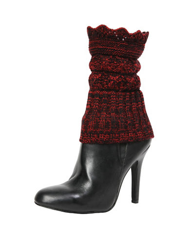 Memoi Womens Crescent Boot Topper-RED-One Size