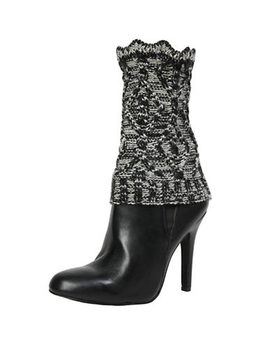Memoi Womens Diamond Boot Topper-BLACK-One Size