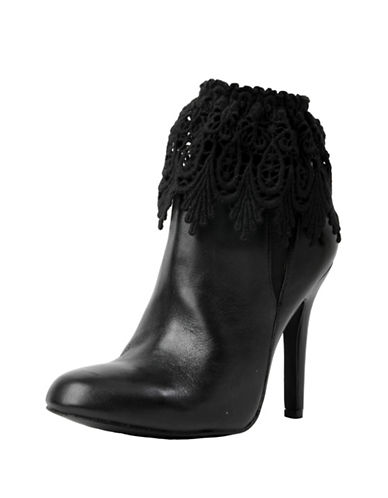 Memoi Womens Oval Leafling Fashion Boot Topper-BLACK-One Size