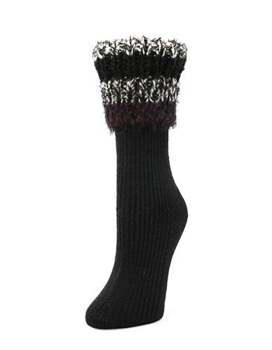 Legmogue Cuffed Crew Socks-BLACK-One Size