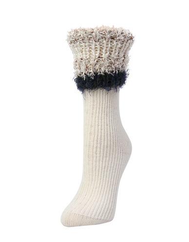 Legmogue Cuffed Crew Socks-VANILLA-One Size