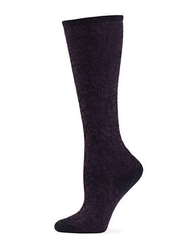 Natori Womens Magnolia Knee-High Socks-PLUM-One Size