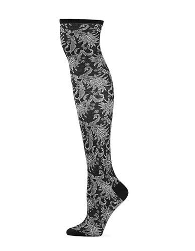 Natori Womens Raven Knee-High Socks-BLACK-One Size