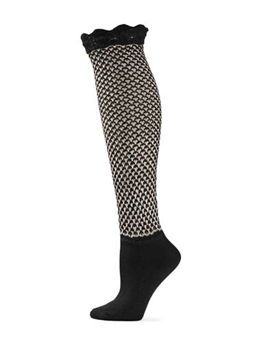Natori Womens Knee-High Bootie Topper-BLACK-One Size
