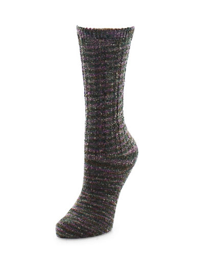 Legmogue Spacedye Mix Crew Socks-PURPLE-One Size