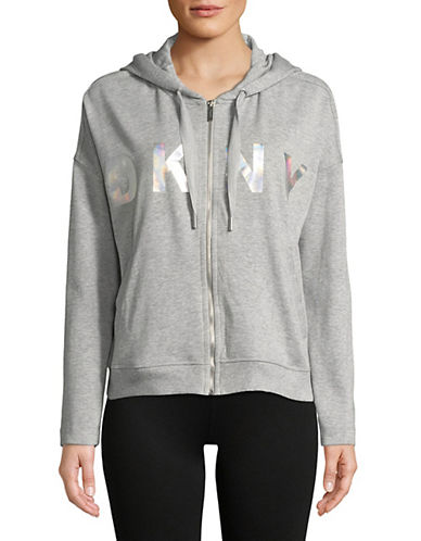 Dkny Classic Logo Hoodie-GREY-X-Large 90073778_GREY_X-Large
