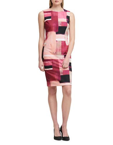 Dkny Sleeveless Sunset Box-Print Sheath Dress 89954336