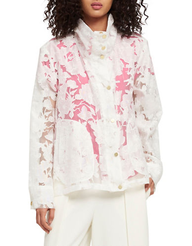 Dkny Lace Long-Sleeve Jacket-WHITE-X-Large 90027746_WHITE_X-Large