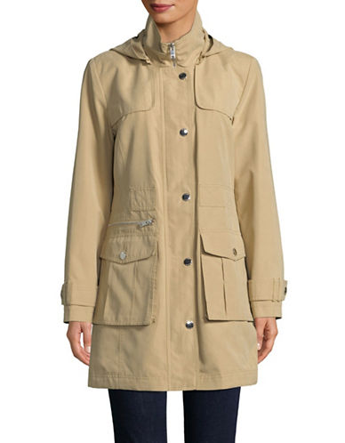 Dkny Hooded Anorak Jacket-KHAKI-Medium