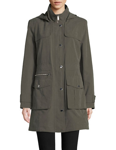 Dkny Hooded Anorak Jacket-OLIVE-Medium
