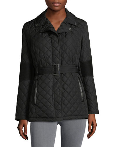 Dkny Belted Quilted Jacket-BLACK-Medium 89858405_BLACK_Medium