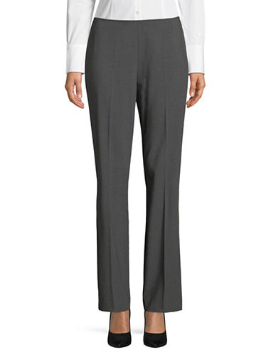 Donna Karan Side Zip Bootcut Pants-GREY-4