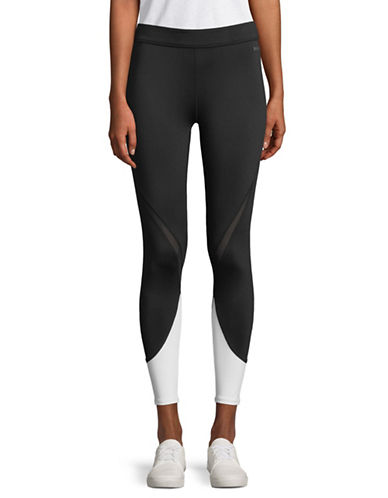 Dkny Logo Colourblock Leggings-BLACK/WHITE-Large