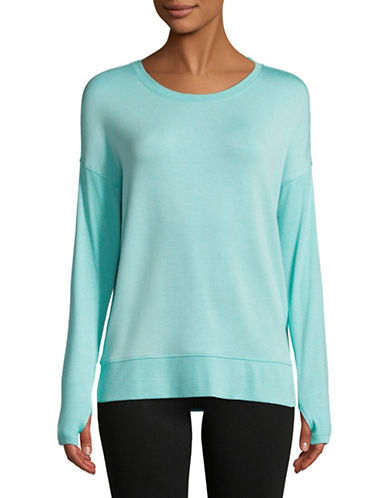 Dkny Keyhole Pullover Top-MIST-Medium