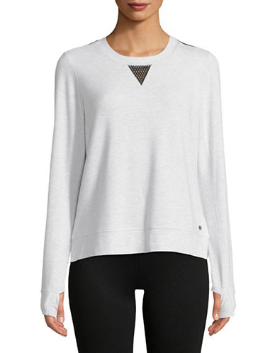 Dkny Mesh-Paneled Sweatshirt-WHITE-X-Large