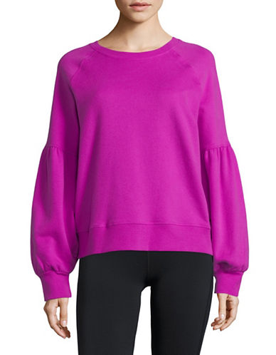 Dkny Bubble-Sleeve Cotton Pullover-FUCHSIA-X-Large