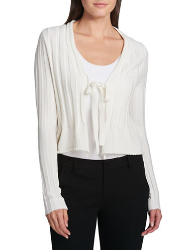 Dkny Cardigan with Tie-IVORY-Medium