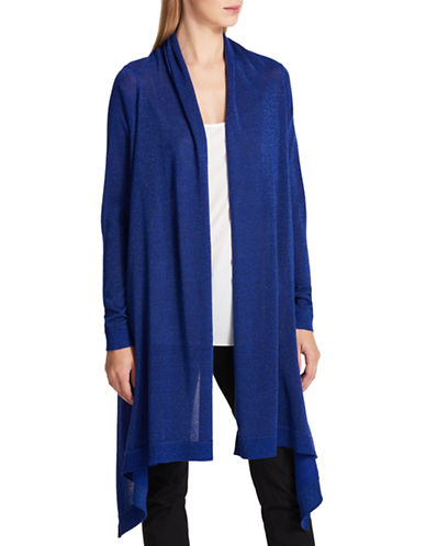 Dkny Wool-Blend Waterfall Cardigan-BLUE-Medium/Large